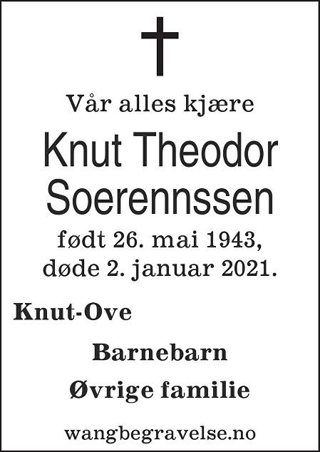 Knut Theodor Soerennssen Dødsannonse