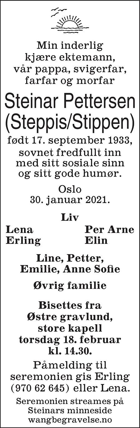 Steinar Pettersen Dødsannonse