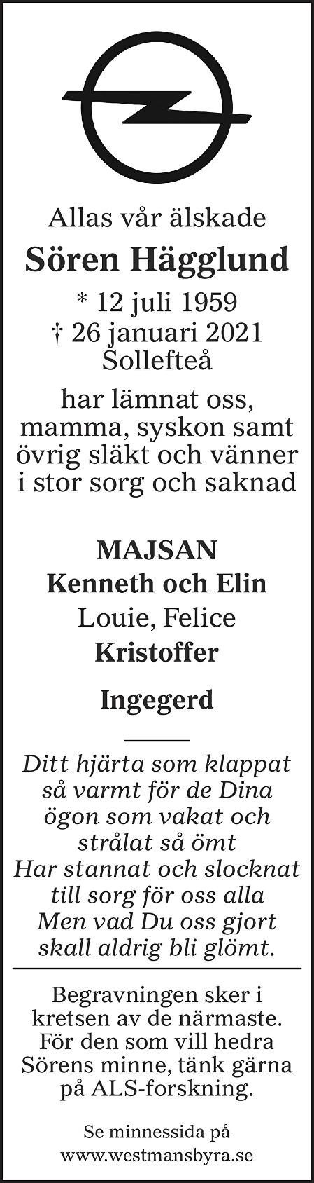 Sören Hägglund Death notice