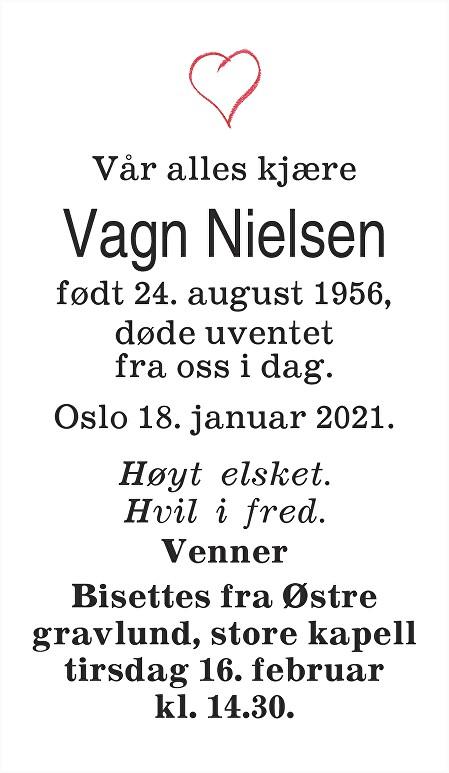 Vagn Nielsen Dødsannonse