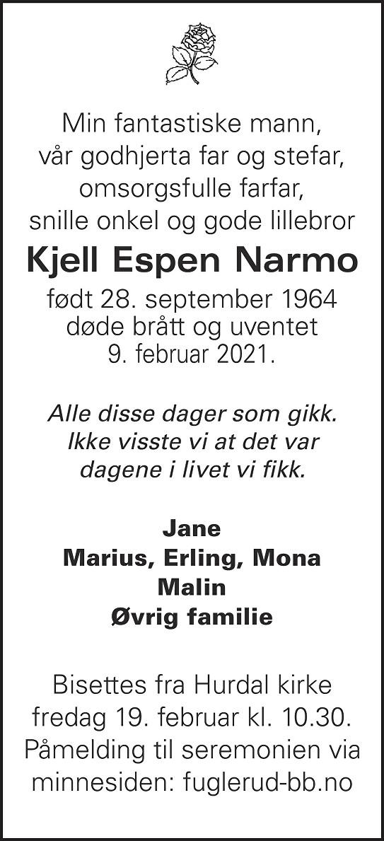 Kjell Espen Narmo Dødsannonse