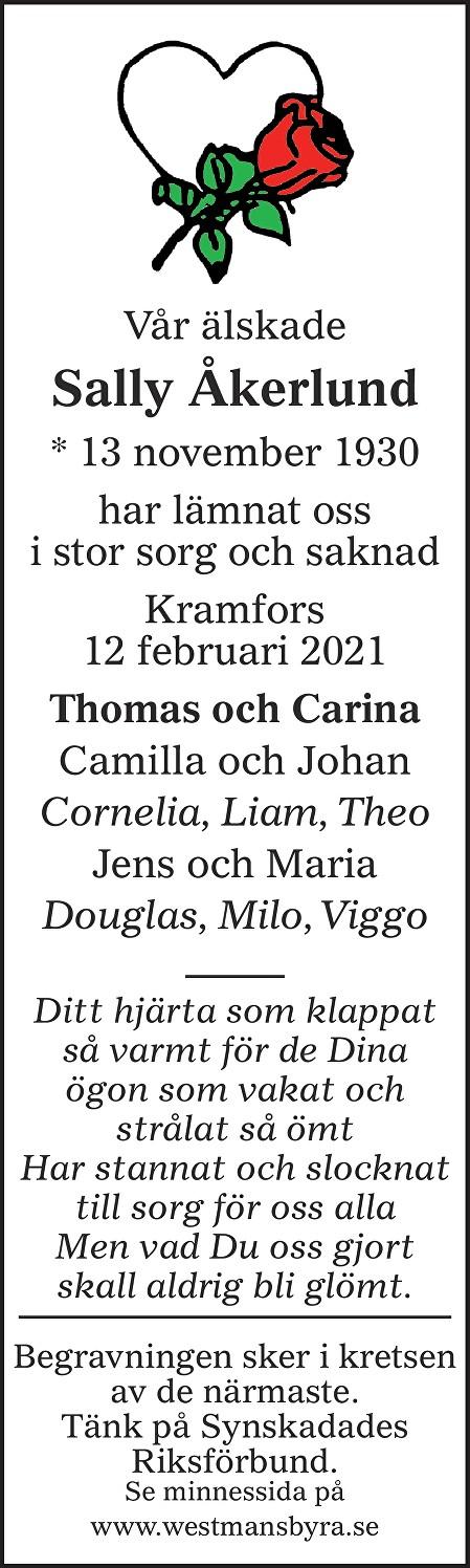 Sally Åkerlund Death notice
