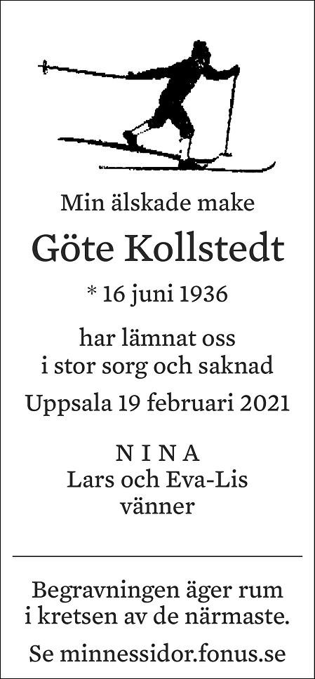 Göte Kollstedt Death notice
