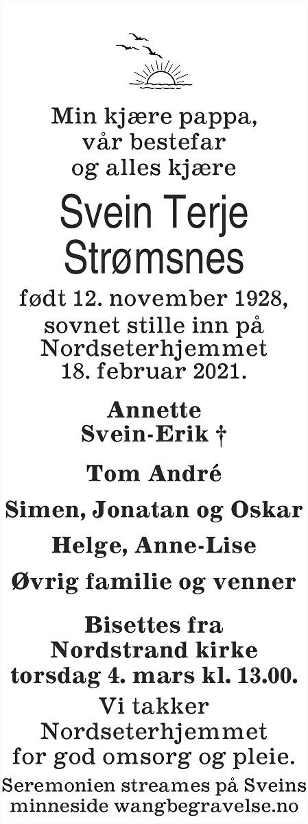 Svein Terje Strømsnes Dødsannonse