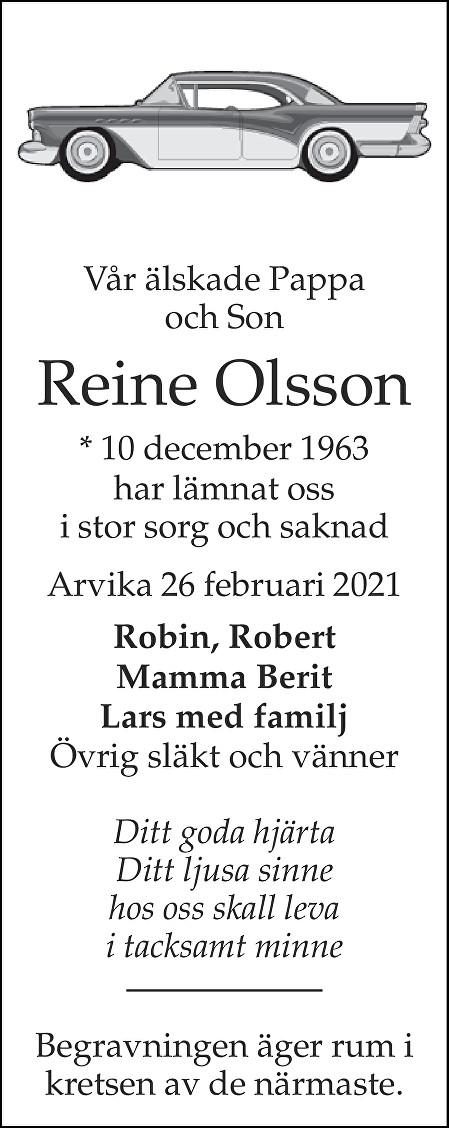 Reine Olsson Death notice