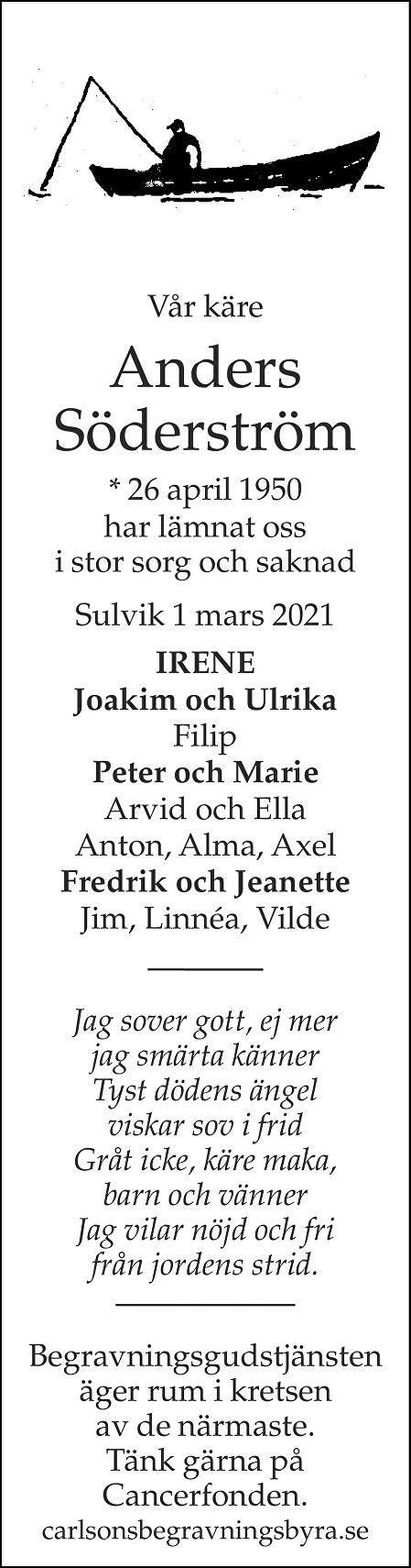 Anders Söderström Death notice