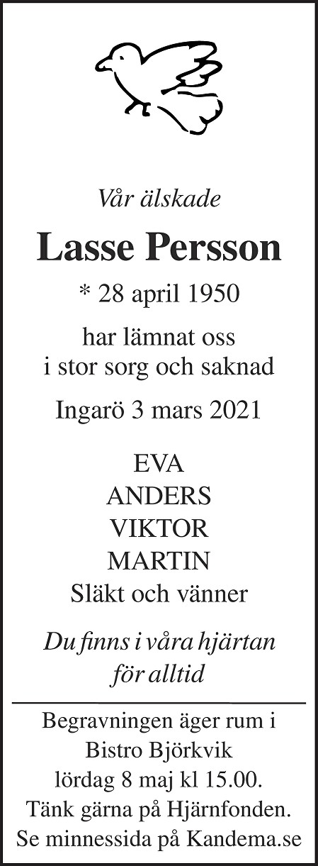 Lasse Persson Death notice