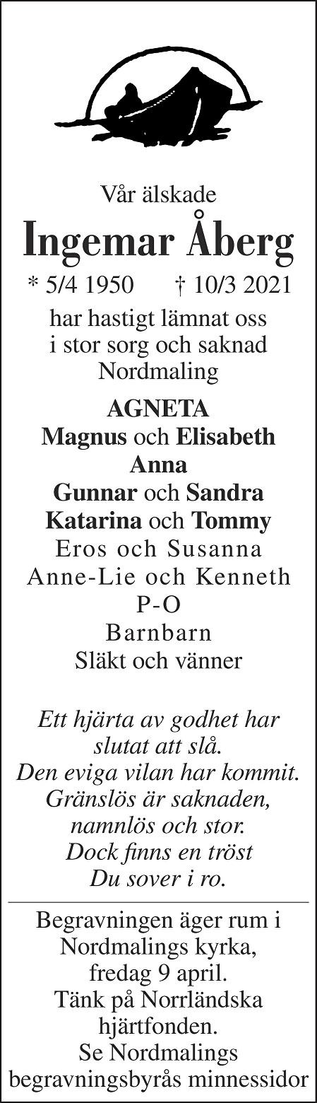 Ingemar Åberg Death notice