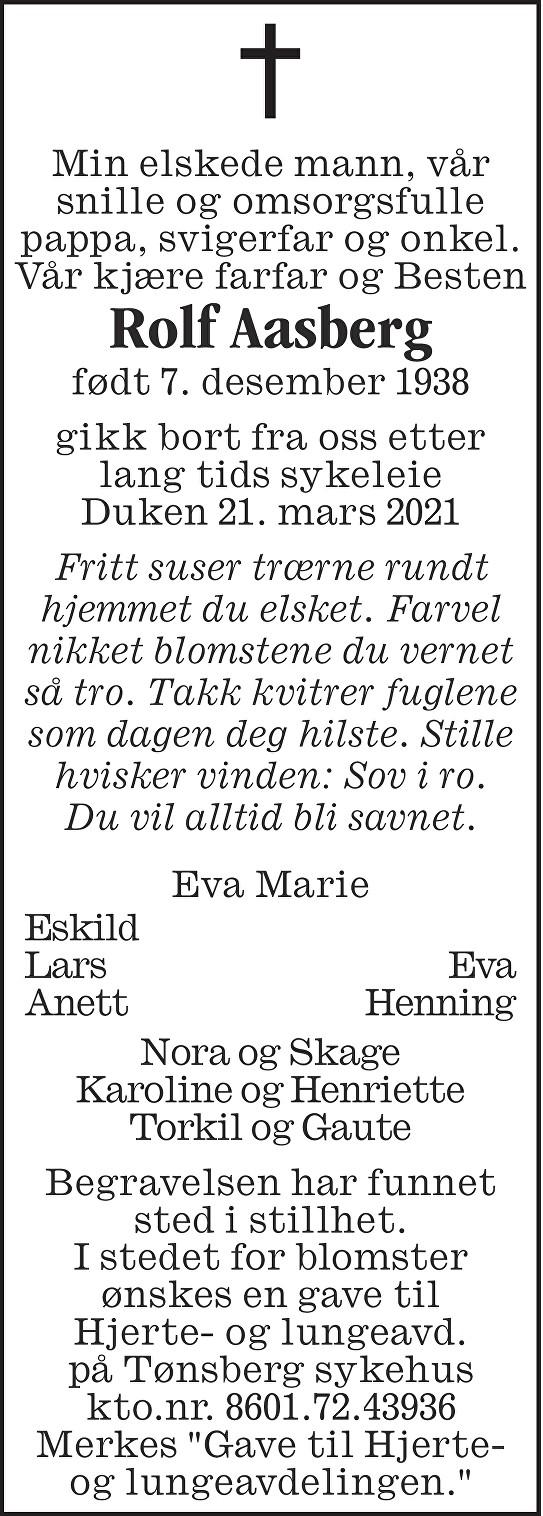 Rolf Aasberg Dødsannonse
