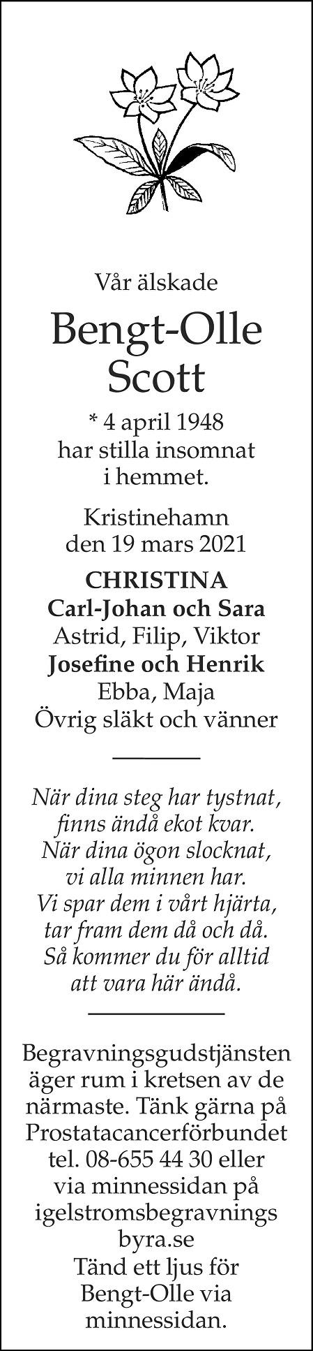 Bengt-Olle Scott Death notice