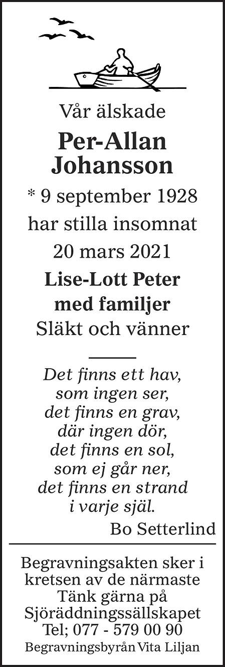 Per-Allan Johansson Death notice