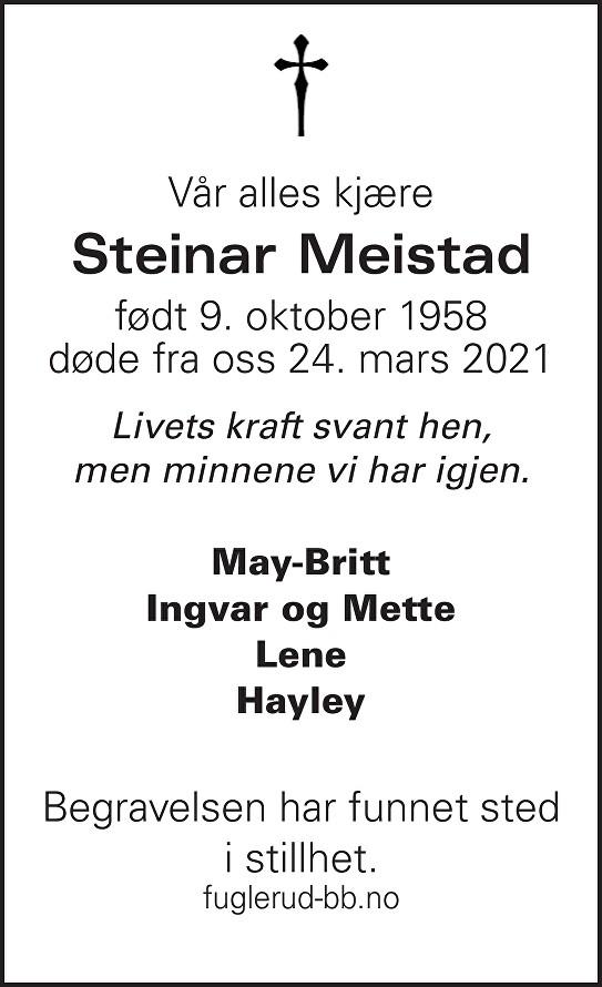 Steinar Meistad Dødsannonse