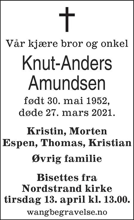 Knut-Anders Amundsen Dødsannonse