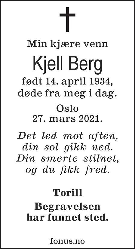 Kjell Berg Dødsannonse