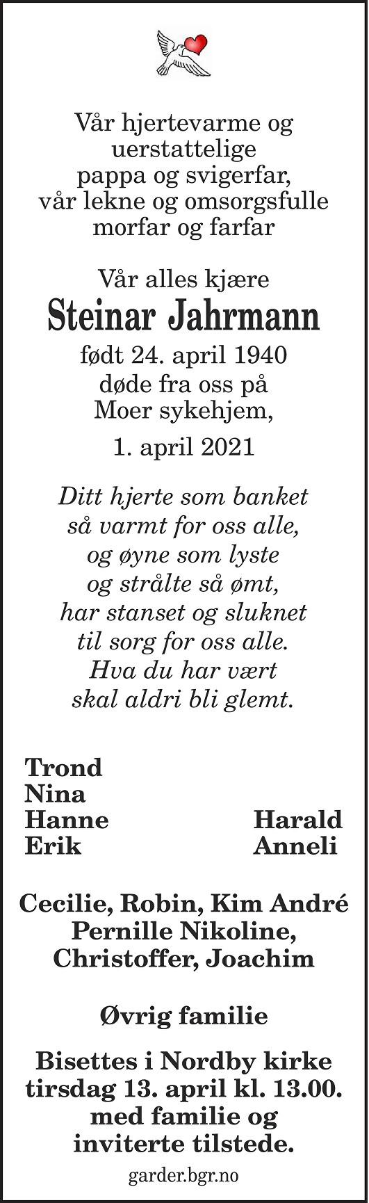 Kjell Steinar Jahrmann Dødsannonse