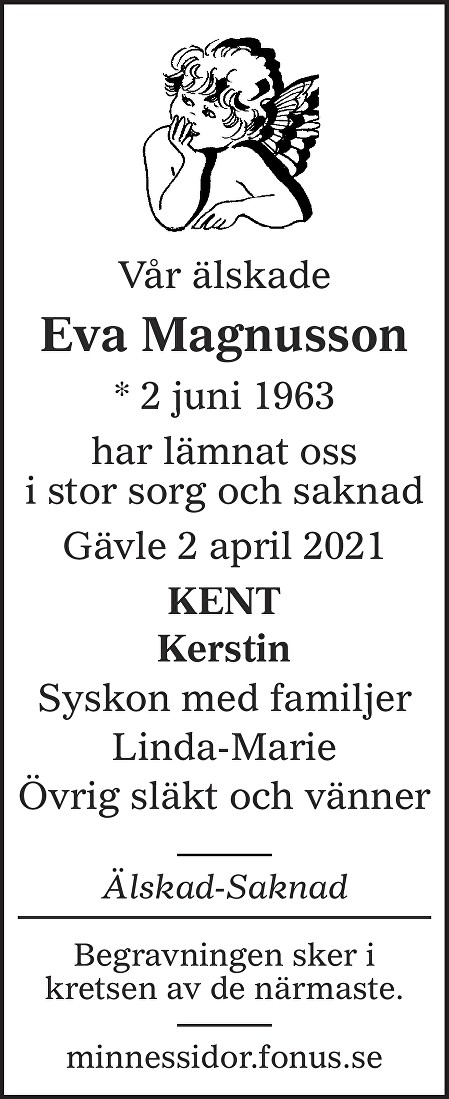 Eva Magnusson Death notice