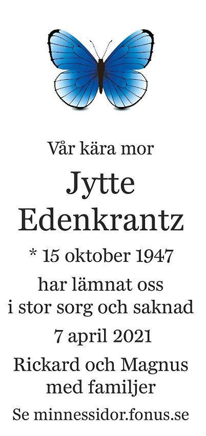 Jytte Edenkrantz Death notice
