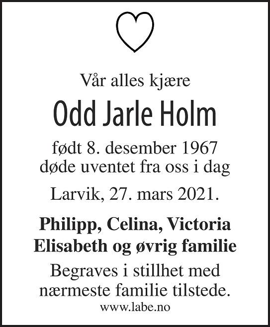 Odd Jarle Holm Dødsannonse