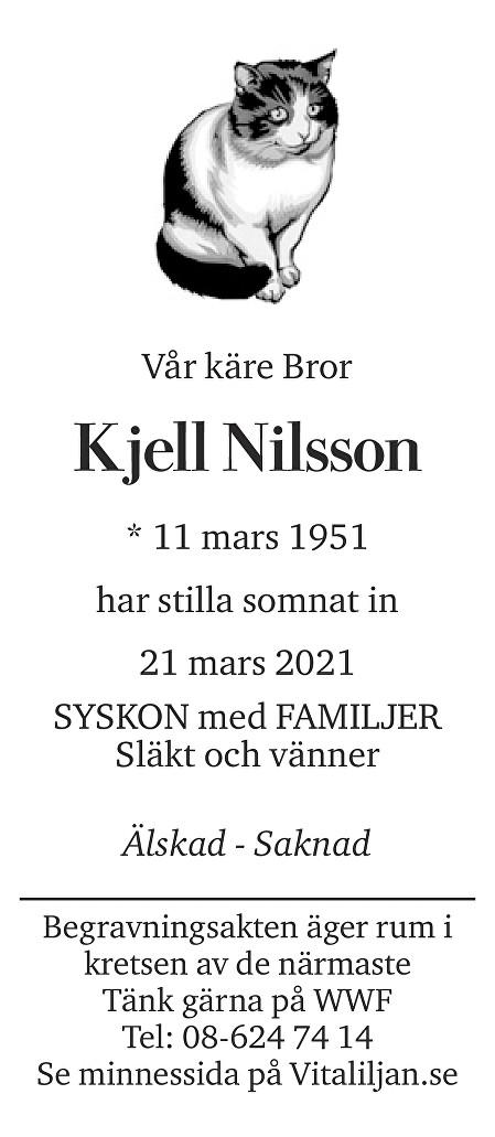 Minne av Kjell  Nilsson Death notice