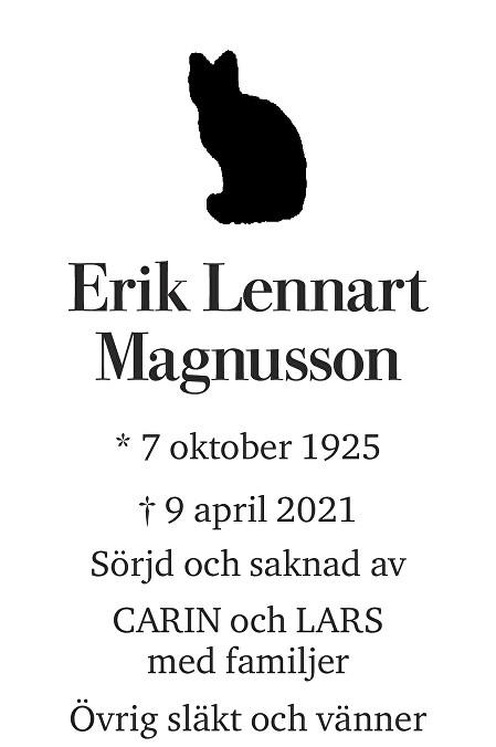 Erik Lennart Magnusson Death notice