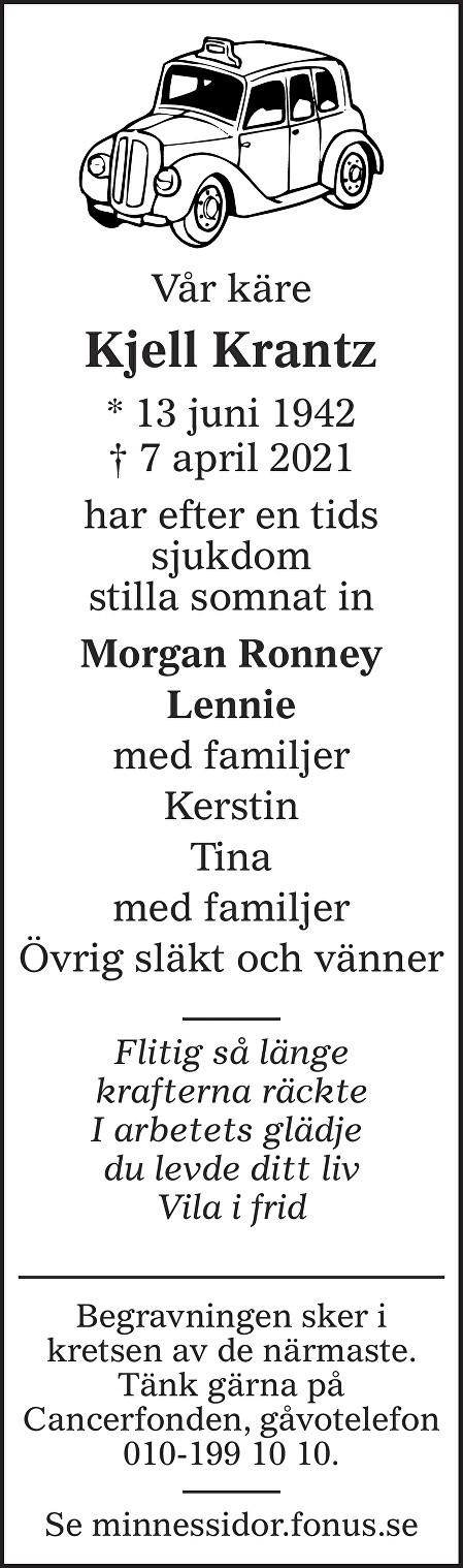 Kjell Krantz Death notice