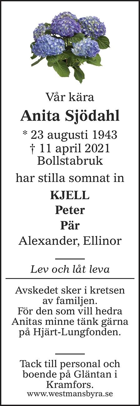 Anita Sjödahl Death notice