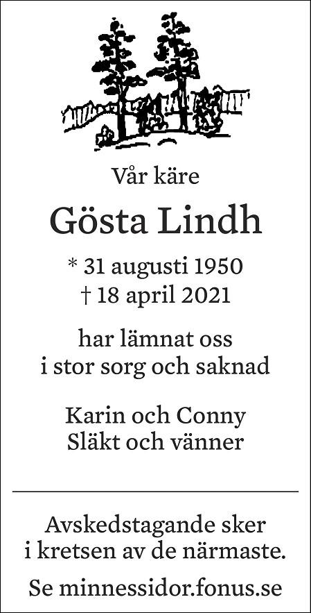Gösta Lindh Death notice