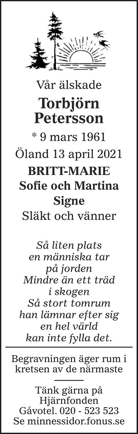 Torbjörn Petersson Death notice