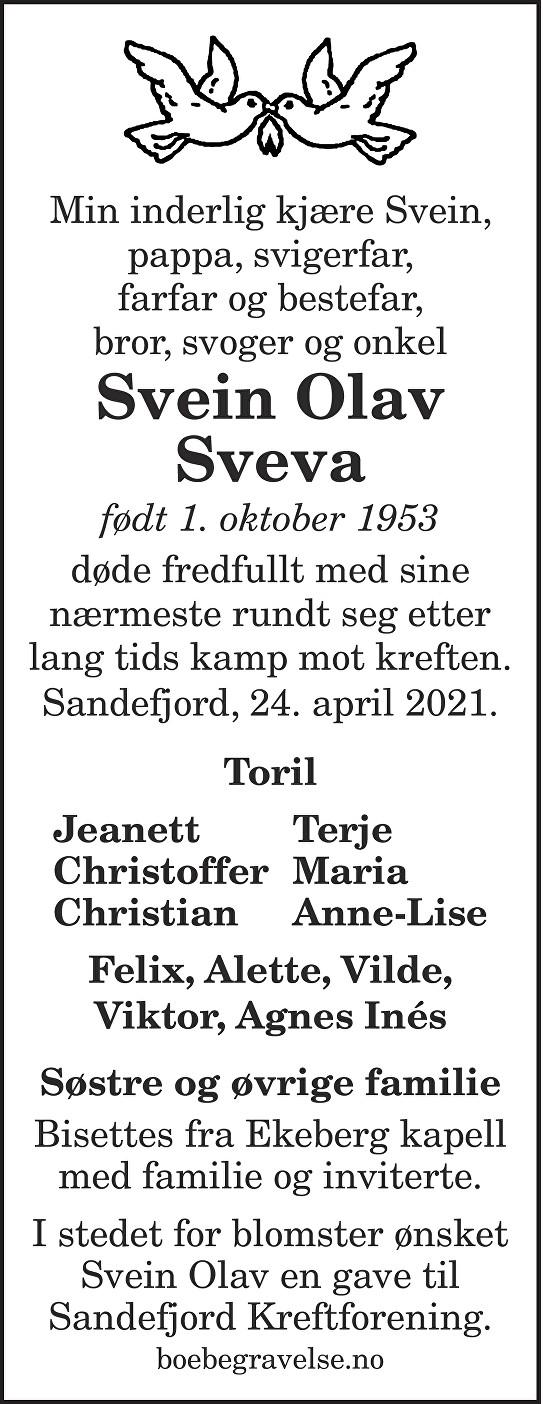 Svein Olav Sveva Dødsannonse