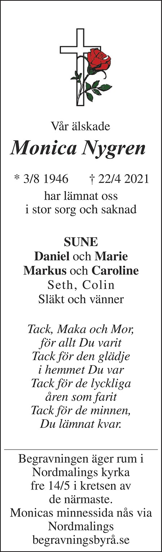 Monica Nygren Death notice