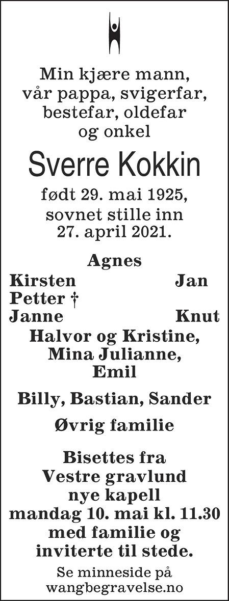 Sverre Kokkin Dødsannonse