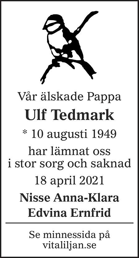 Ulf Tedmark Death notice