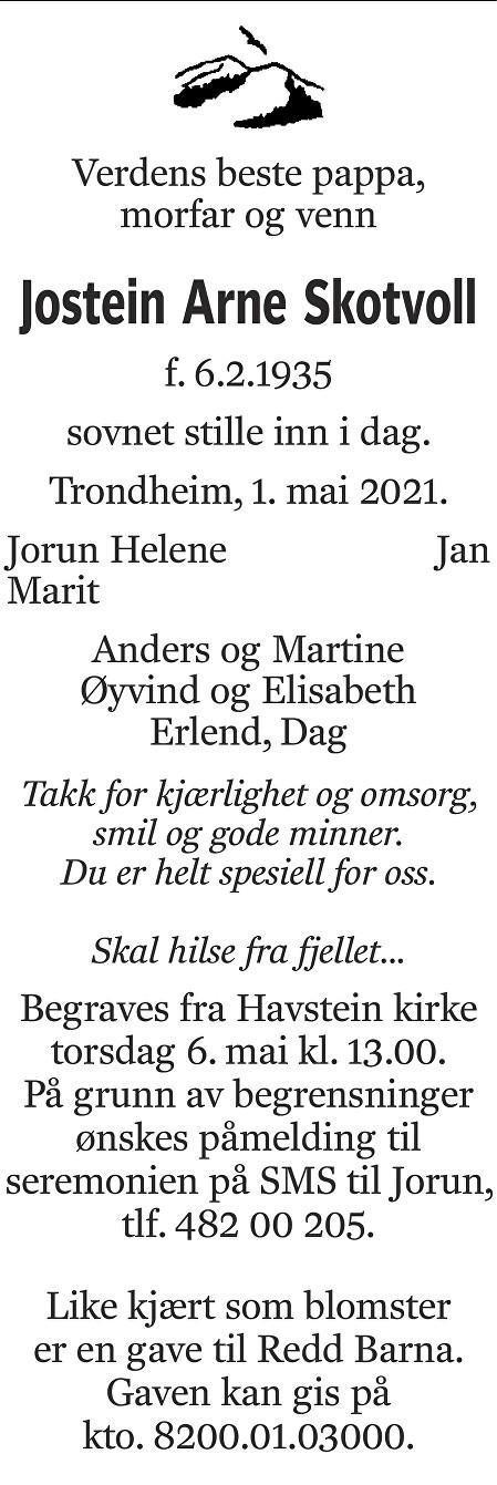 Jostein Arne Skotvoll Dødsannonse