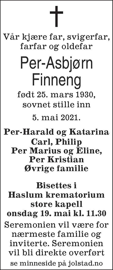 Per-Asbjørn Finneng Dødsannonse