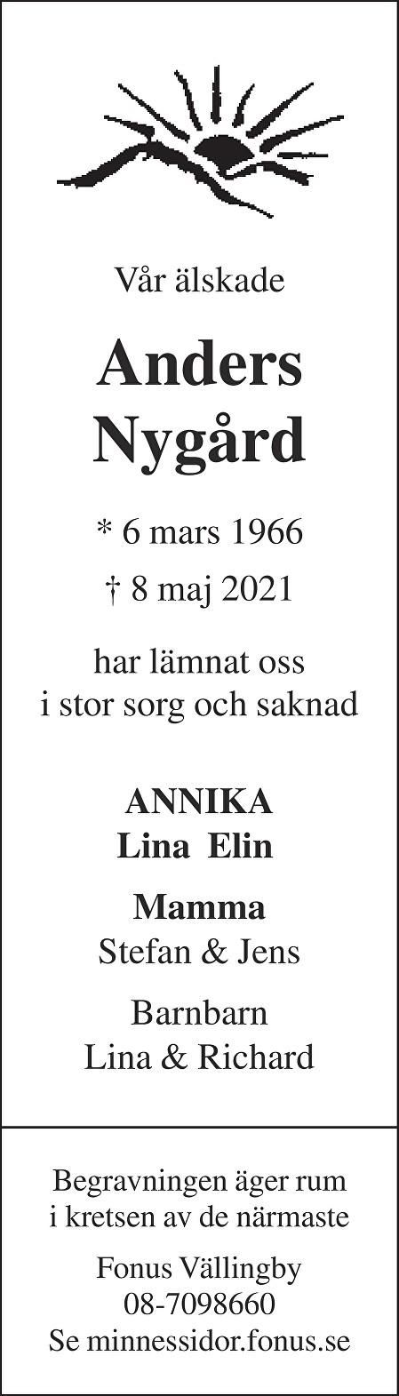 Anders Nygård Death notice
