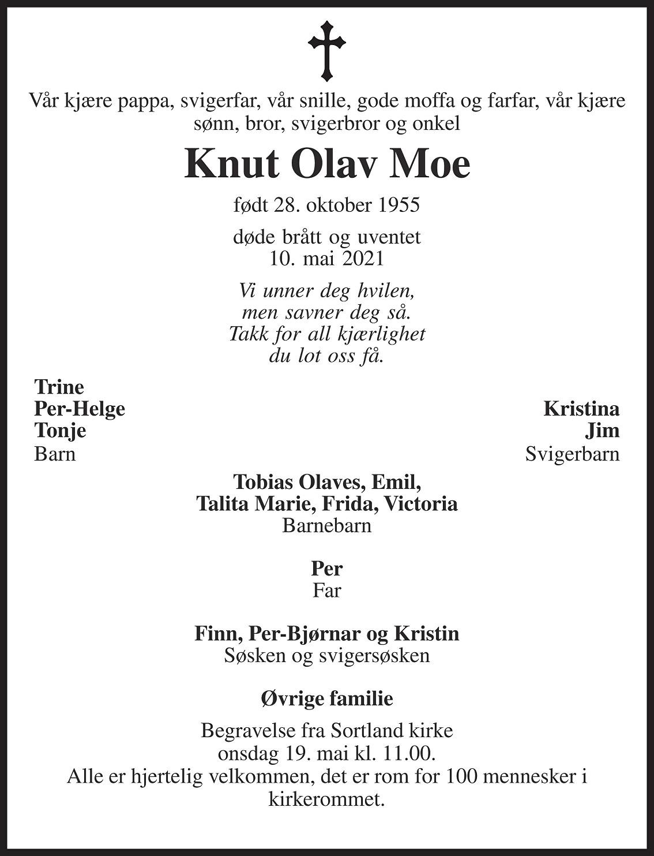 Knut Olav Moe Dødsannonse