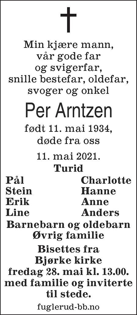 Per Arntzen Dødsannonse