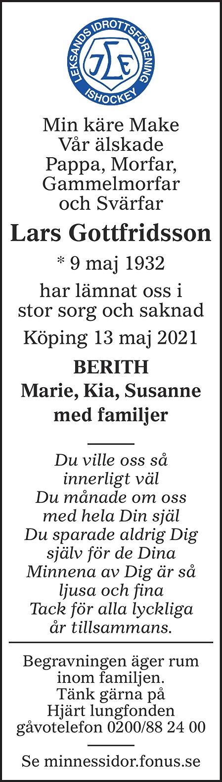 Lars Gottfridsson Death notice