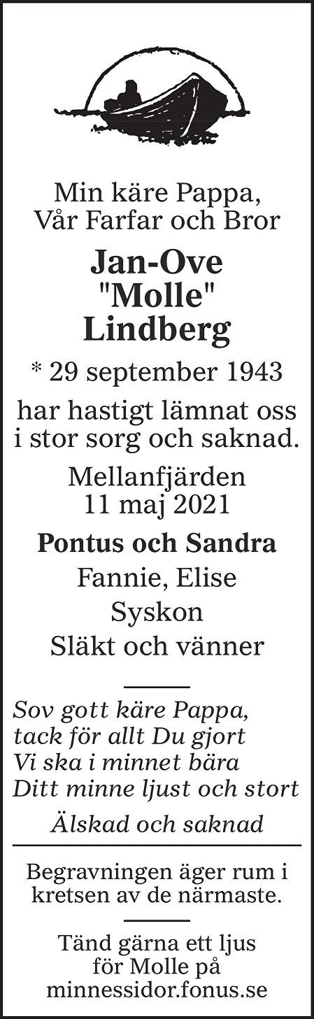 Jan-Ove Molle Lindberg Death notice