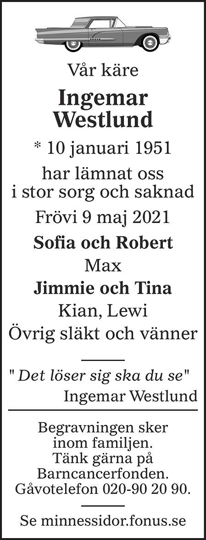 Ingemar Westlund Death notice
