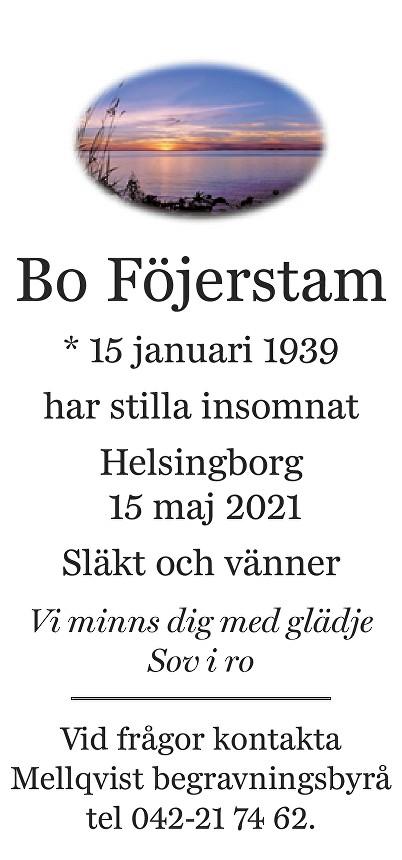 Bo Föjerstam Death notice