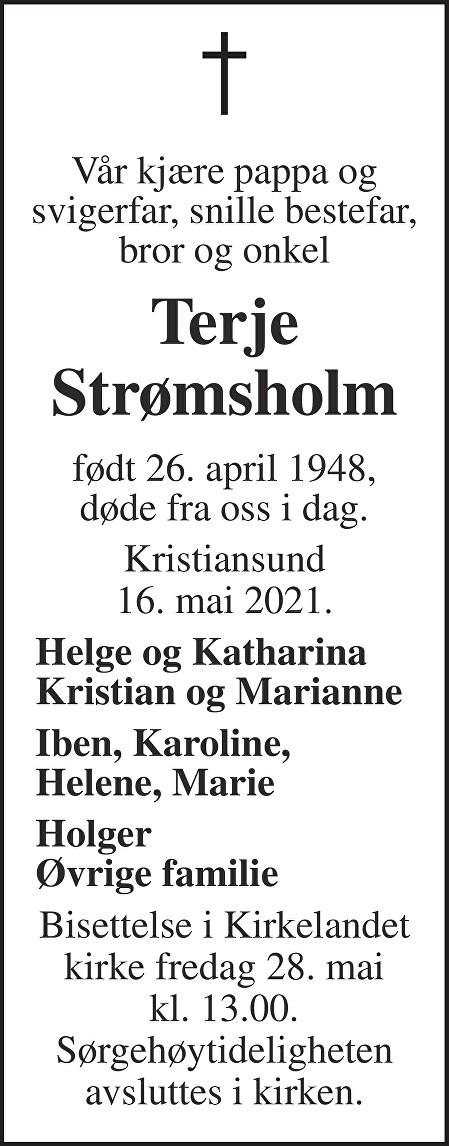 Terje Strømsholm Dødsannonse
