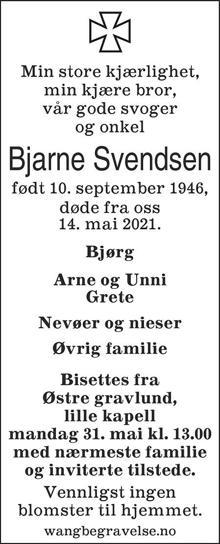 Bjarne Svendsen Dødsannonse