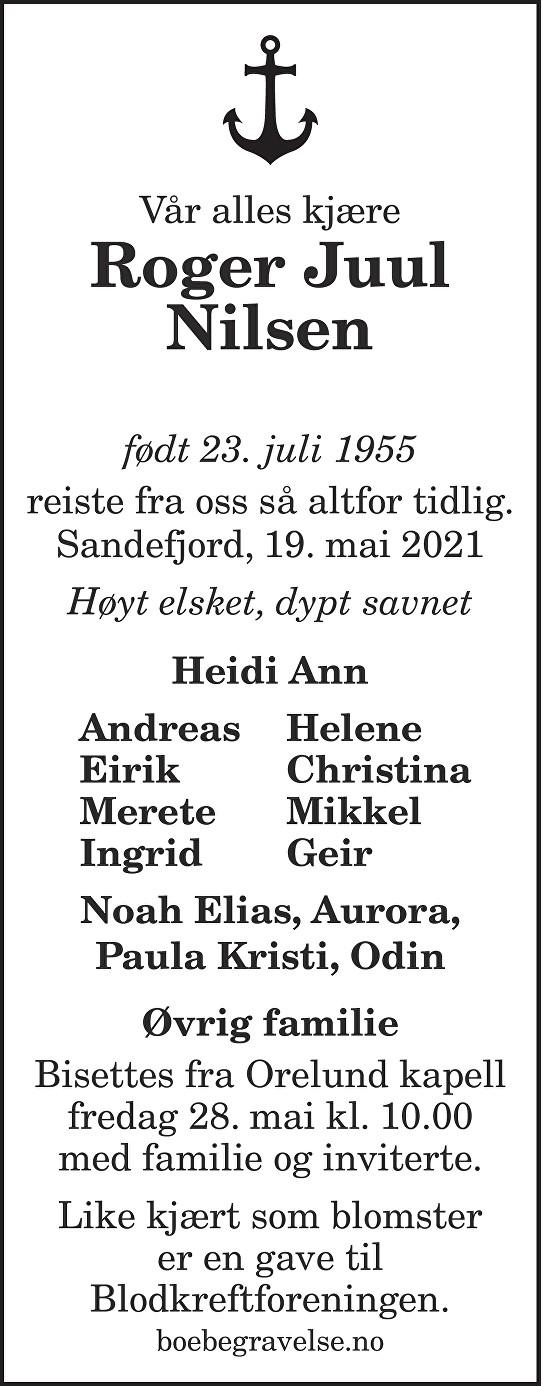 Roger Juul Nilsen Dødsannonse
