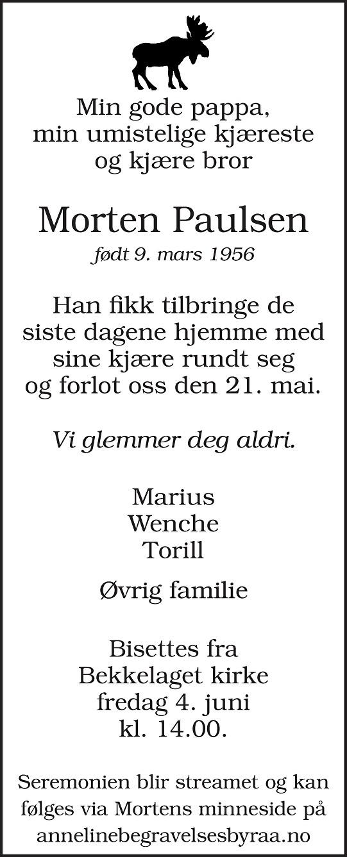 Morten Paulsen Dødsannonse
