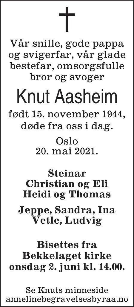 Knut Harald Aasheim Dødsannonse