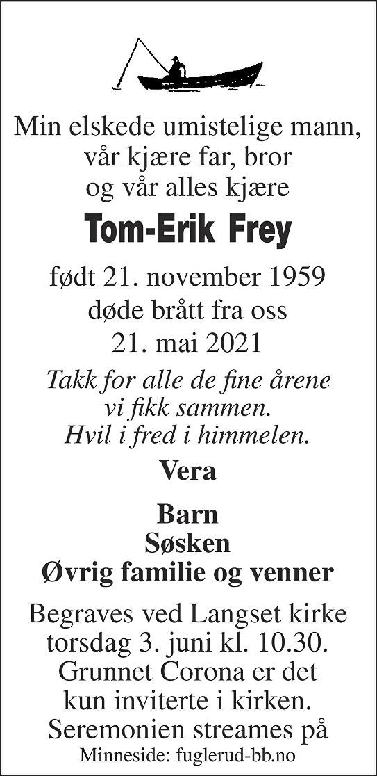 Tom-Erik Frey Dødsannonse