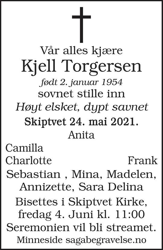 Kjell Torgersen Dødsannonse