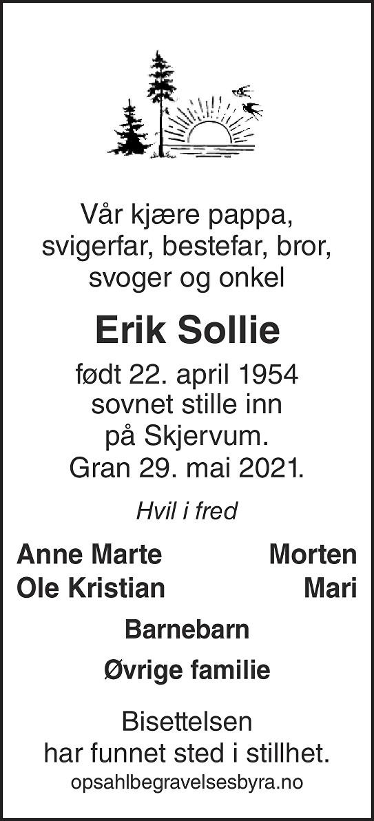 Erik Sollie Dødsannonse