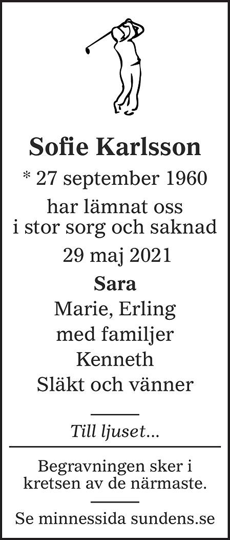 Sofie Karlsson Death notice